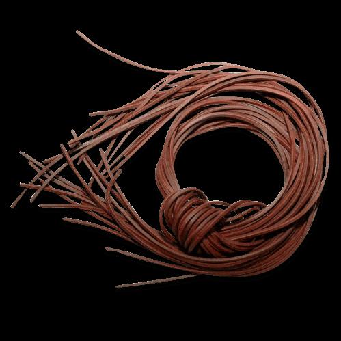 Pfeifenband Lederriemen dunkel